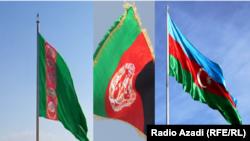 بیرق های ملی افغانستان، ترکمنستان و آذربایجان
