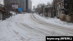 Гололед в Севастополе, 8 января 2017 год