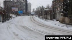 Ожеледиця в Севастополі, 8 січня 2017 року