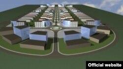 Дигитален приказ на индустриската зона Жабени кај Битола.