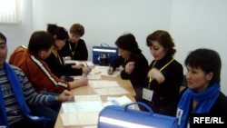 Участники предыдущей кампании переписи населения. Астана, 25 февраля 2009 года.