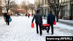 Krymyň paýtagty Simferopol, 31-nji dekabr, 2015.