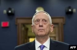U.S. Secretary of Defense Jim Mattis testifies on the Defense Department budget at a House Appropriations Committee Defense Subcommittee hearing on Capitol Hill in Washington on June 15