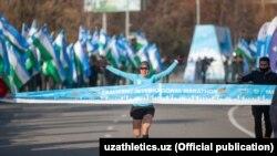 Мария Коробицкая на международном марафоне в Ташкенте. Декабрь 2020 года.
