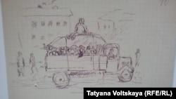 Саперный переулок в детских рисунках