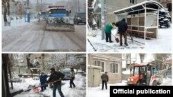 Ձյան մաքրման աշխատանքները Երևանում, 31-ը դեկտեմբերի, 2015թ.
