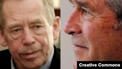 Вацлаў Гавал і Джордж Буш