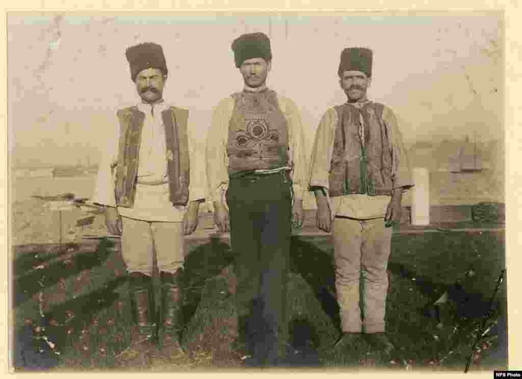Three Montenegrin men.