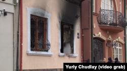 Наслідки підпалу Угорського центру в Ужгороді