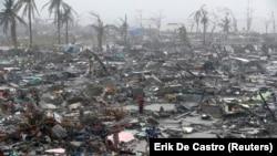 Такими були наслідки попереднього потужного тайфуну, який вразив Філіппіни в листопаді 2013 року