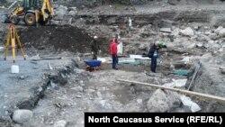 Раскопки вблизи Нузальской часовни, Северная Осетия