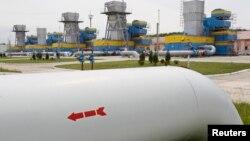Газопровод на подхменом хранилище вблизи Киева. 21 мая 2013 года.