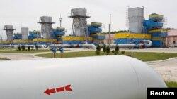Украинадағы газ қоймаларының бірі. 21 мамыр 2013 жыл. (Көрнекі сурет)