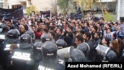 صحفيون في السليمانية يحتجون على اغتيال زميل لهم (من الارشيف)