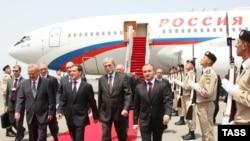 Medvedev is in Baku for business