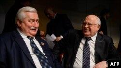 Лех Валенса и Михаил Горбачев