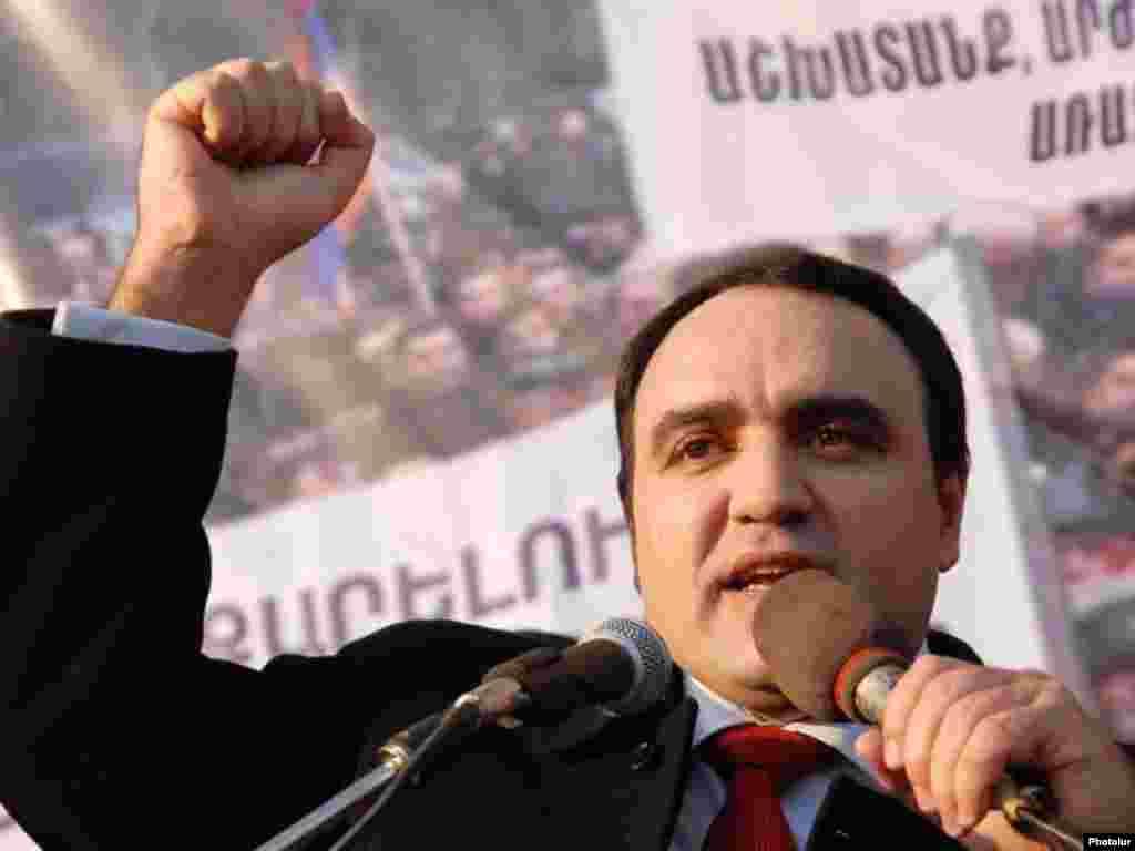 Кандидат в президенты, Артур Багдасарян, бывший спикер парламента Армении, январь 2008