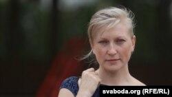 Belarus —Russian lawyer Maria Rymar near court in Minsk