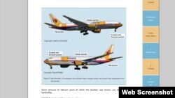 Pamje nga paraqitja e raportit preliminar për rrëzimin e aeroplanit të malajzisë