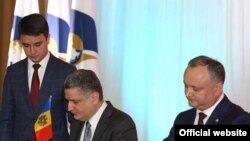 Președintele Igor Dodon la semnarea Memorandumului de colaborare...