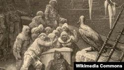 Qoca dənizçinin balladası əsərinə çəkilmiş qravür (Gustave Doré (1876)