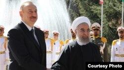 Азербејџанскиот претседател Илхам Алиев и неговиот ирански колега Хасан Рохани во Техеран