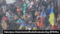 Сторонники евроинтеграции пикетируют администрацию города Ровно