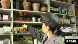 В магазине семян в городе Талдыкоргане. Ноябрь 2008 года.