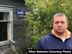 Алексей Коровкин в поселке Азанка