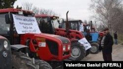 Protestul fermierilor la Brăviceni, raionul Orhei.