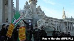 В начале марта в Вене прошел митинг беженцев, выступивших против принудительной высылки чеченских эмигрантов