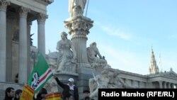 Вена -- 600 сов стаг гулвеллера Венехь нохчий Австрера арабахарна дуьхьал хиллачу митинге. 03Заз2013.