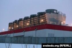 Завод беленай цэлюлёзы каля Сьветлагорску.