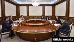 Делегация Всемирного банка на встрече с президентом Узбекистана Шавкатом Мирзияевым. Ташкент, 27 февраля 2019 года.