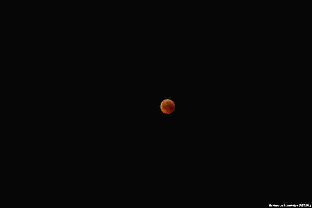 Лунное затмение. Бишкек. Кыргызстан.