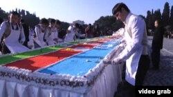 Azərbaycan prezidentinə Sumqayıtdan ad günü hədiyyəsi - 52 metrlik tort