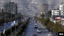 A view of Darulaman Road in Kabul, where two professors of the American University of Afghanistan were abducted on August 7.