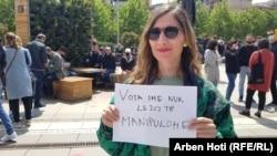 Protesta para Kuvendit të Kosovës