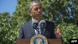 ԱՄՆ - Նախագահ Բարաք Օբաման ելույթի ժամանակ, օգոստոս, 2013թ․