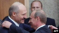 Is Belarusian President Alyaksandr Lukashenka (left) embracing Russia and its billions?