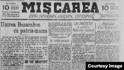 """""""Mișcarea"""" (Foto: I. Țurcanu, M. Papuc, Basarabia în actul Marii Uniri de la 1918)"""