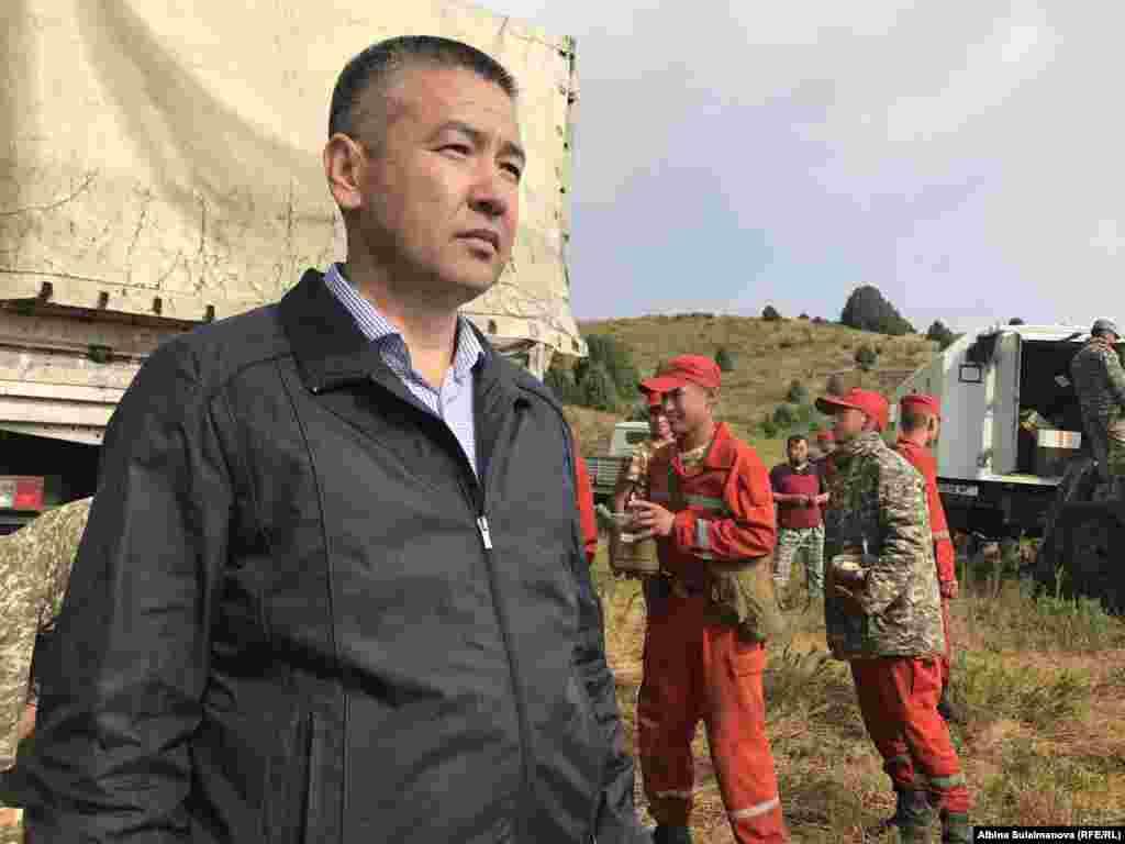 Глава МЧС Нурболот Мирзахмедов.