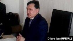 Мұқан Егізбаев, Оңтүстік Қазақстан облыстық денсаулық сақтау департаментінің бастығы. Шымкент, 27 ақпан 2017 жыл.