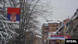 Pamje në pjesën veriore të Mitrovicës gjatë dimrit