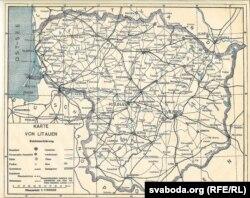 Мапа Літвы, 1920 год