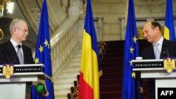 Herman van Rompuy şi Traian Băsescu la Cotroceni