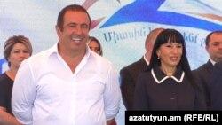 Armenia -- Gagik Tarukian and Naira Zohrabian open the election campaign of the Prosperous Armenia Party. Yerevan, 10Sept., 2018