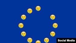 Avropa İttifaqının bayrağındakı ulduzların yerinə emosiya smayliklər