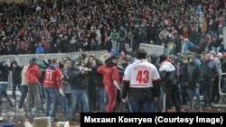 Оьрсийчоь -- Спарткана, Шинникана юкъара матч девнаца йирзина, Ярославл, ГIадужу-бутт 30, 2013.