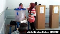 احد المراكز الانتخابية في دهوك(من الارشيف)
